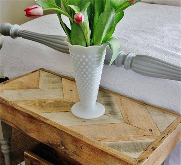 recycled pallet topped table