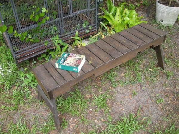 Pallet Wood Zen Bench