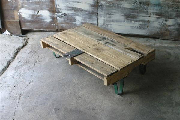 diy pallet vintage coffee table