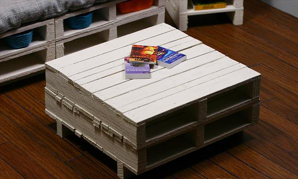 White Pallet Coffee Table diy white pallet coffee table | pallet furniture diy