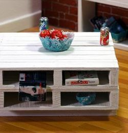 recycled pallet coffee table