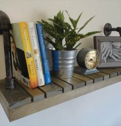 recycled pallet industrial shelf