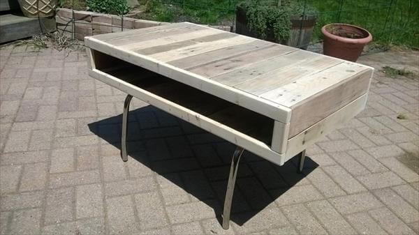 recycled pallet coffee table and TV stand
