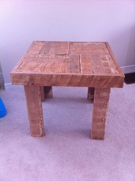 upcycled pallet coffee table and side table