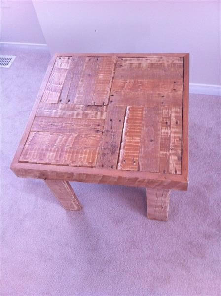diy pallet coffee table and side table