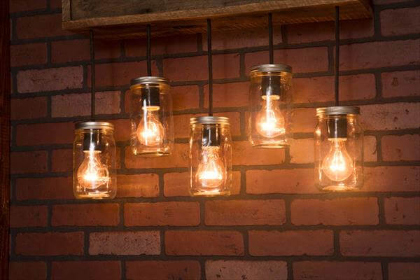 Pallet Mason Jar Pendant Light Fixture Pallet Furniture Diy
