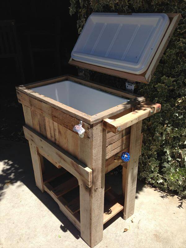 diy pallet outdoor cooler