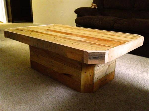 DIY Pedestal Pallet Coffee table | Pallet Furniture DIY