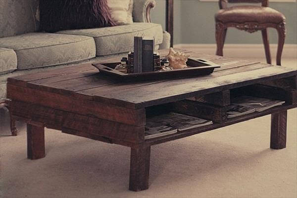 Diy Countryside Pallet Coffee Table
