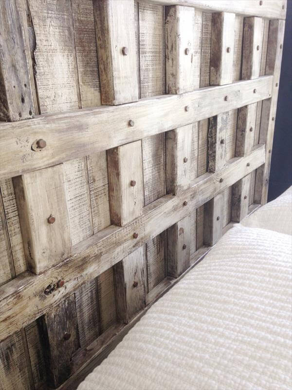 DIY Pallet Wood Queen Headboard | Pallet Furniture DIY