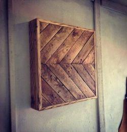 recycled pallet wall art