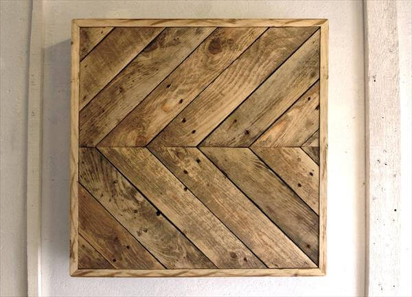 DIY Chevron Pallet Wall Art Furniture