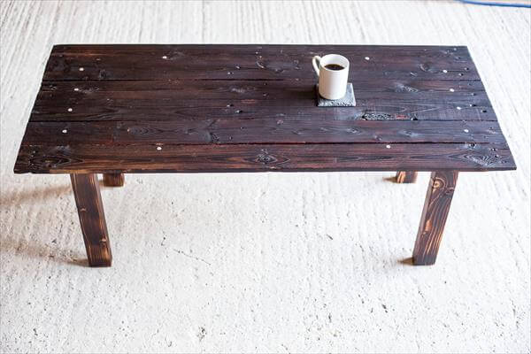 rustic black pallet coffee table