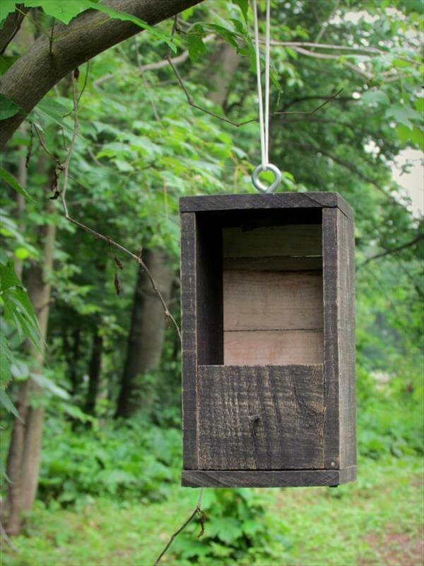 handcrafted pallet bird house