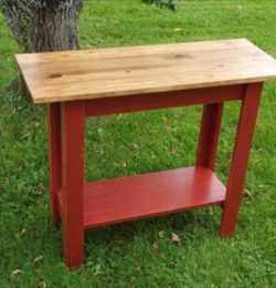 rustic pallet console sofa side table
