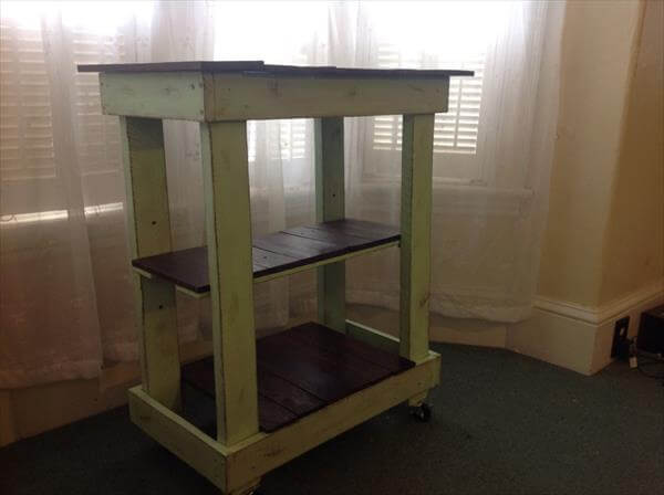reclaimed pallet kitchen cart