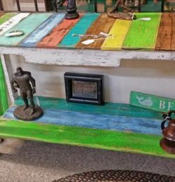 reclaimed pallet sofa side table and accent table