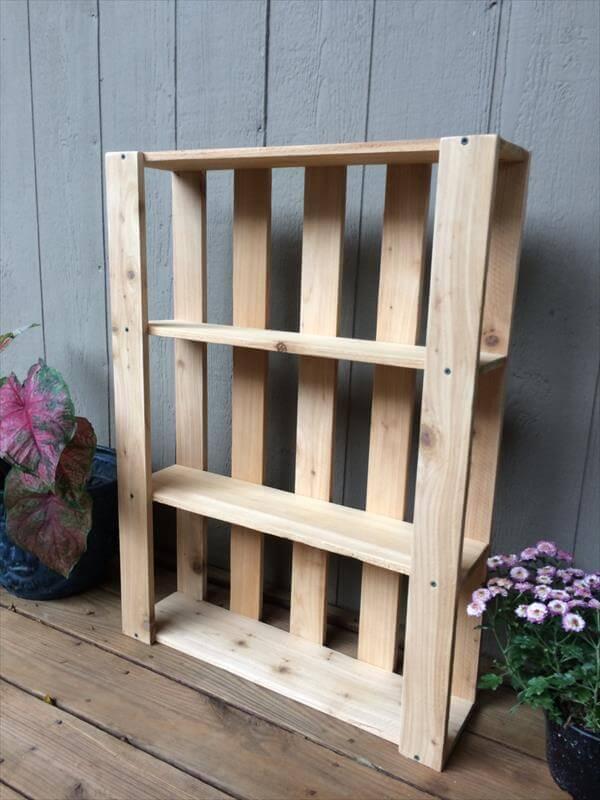 DIY Pallet Wall Hanging Shelves Pallet Furniture DIY : pallet wall hanging shelves 4 from palletfurniturediy.com size 600 x 800 jpeg 56kB
