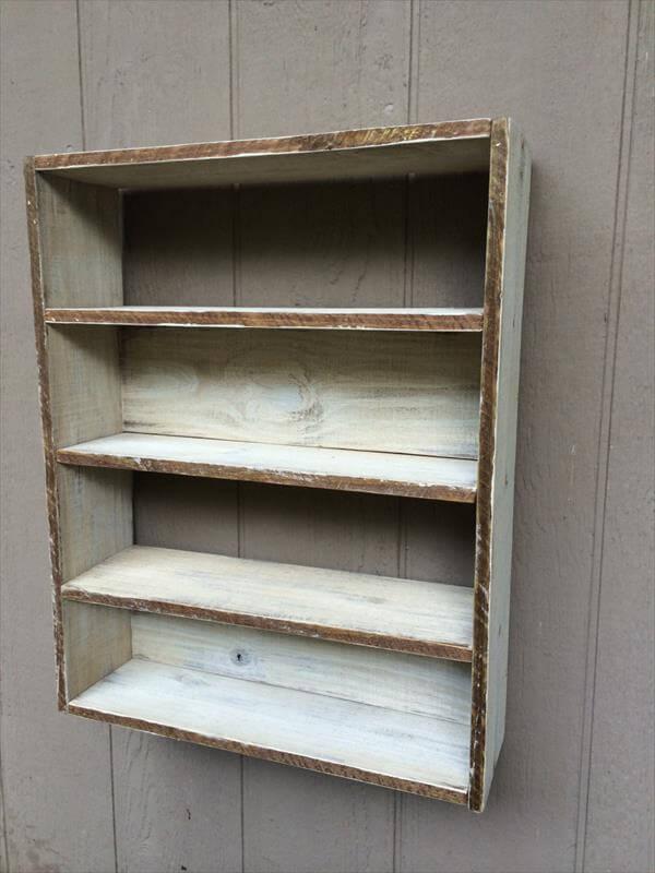Wall Hanging Shelves Diy : Diy pallet wall hanging shelving furniture