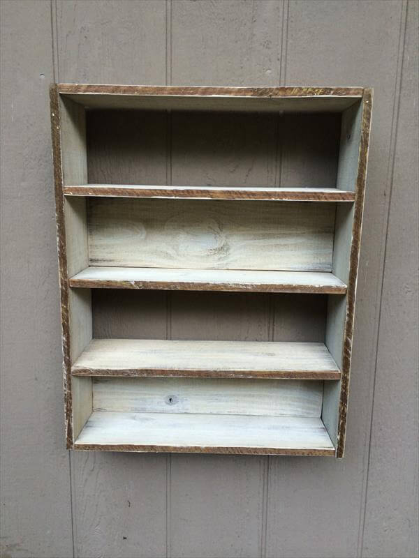 DIY Pallet Wall Hanging Shelving Pallet Furniture DIY