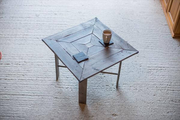upcycled pallet squared table
