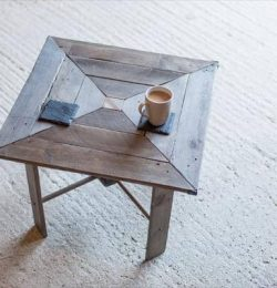 diy pallet wood squared table