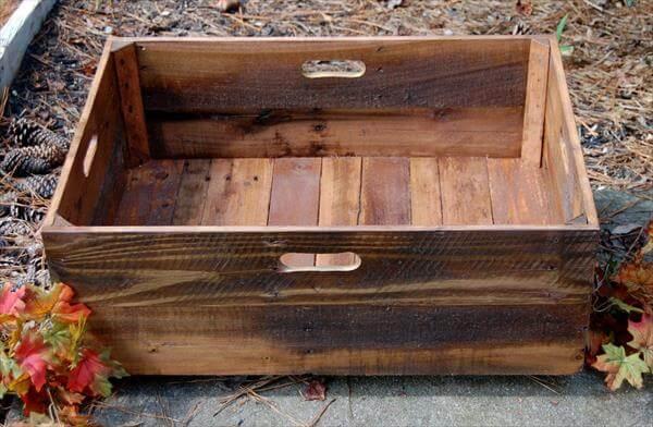 Diy X Large Rolling Crate Pallet Furniture Diy