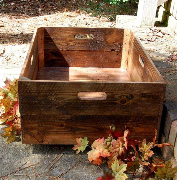 DIY X Large Rolling Crate Pallet Furniture DIY