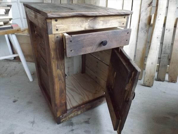 Diy pallet side tables pallet furniture diy for End tables made from pallets