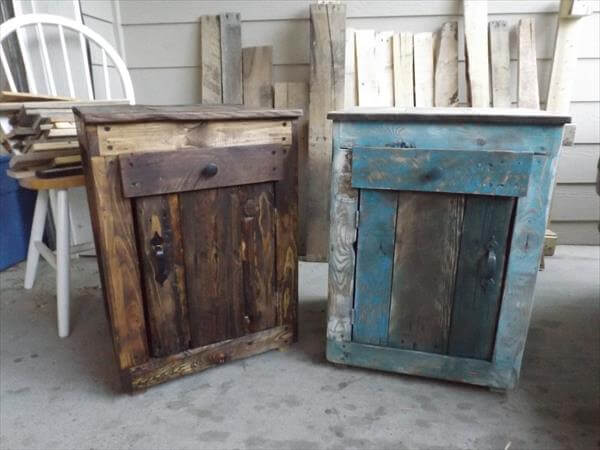 DIY Pallet Side Tables | Pallet Furniture DIY