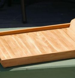 upcycled pallet wood tray