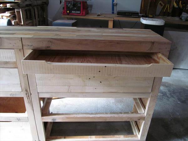 upcycled pallet dresser