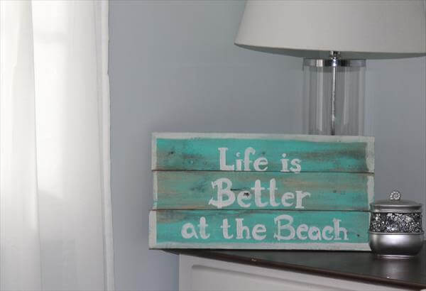 upcycled pallet sign