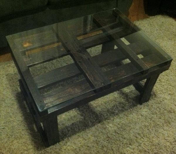 upcycled pallet black coffee table