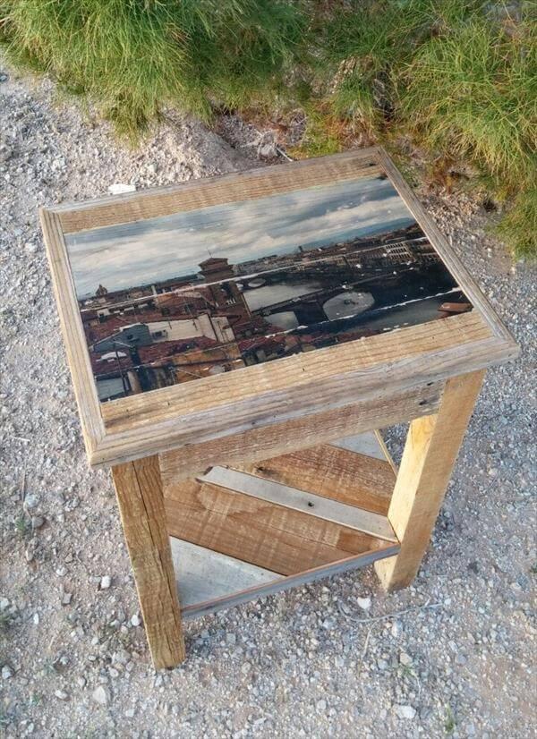 diy pallet multi-purpose miniature table