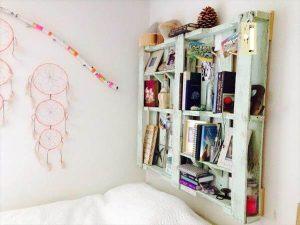 diy pallet headboard and bookshelf plan