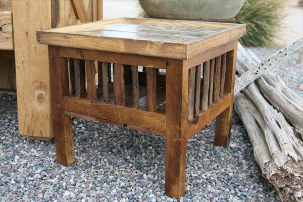 recycled pallet multipurpose table