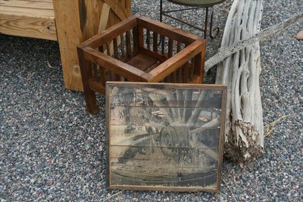 reclaimed pallet multipurpose table