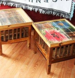 handcrafted pallet miniature tables