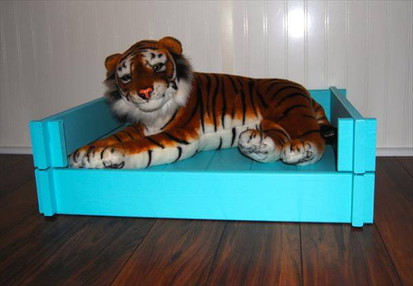 handcrafted pallet pet bed