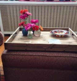 upcycled pallet rustic tray