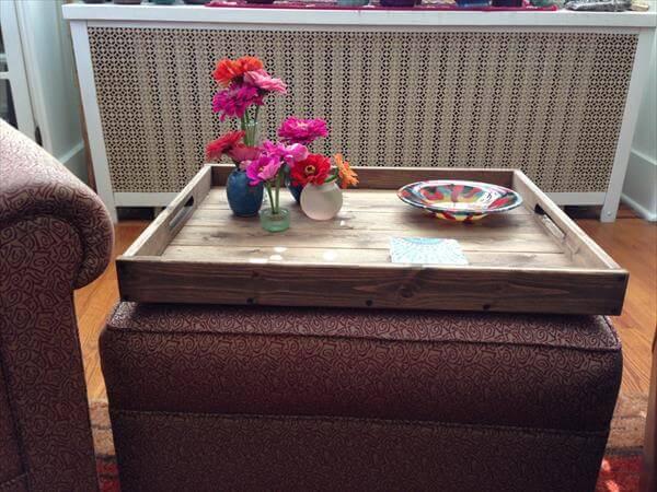 Diy Pallet Ottoman Tray Pallet Furniture Diy