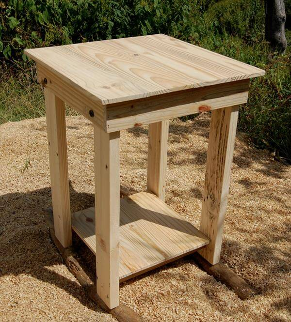 Pallet Side Table End Table Nightstand Pallet