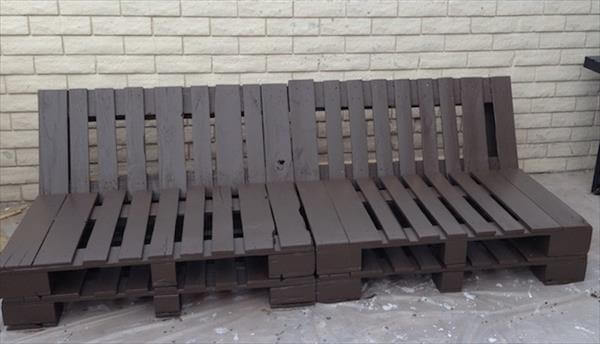 diy pallet outdoor couch with cushion pallet furniture diy