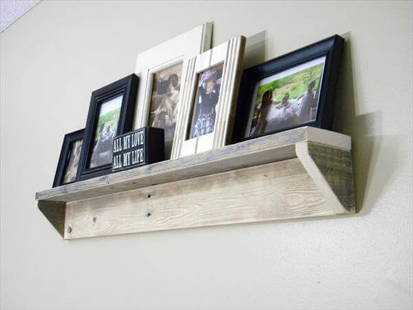 Pallet Picture Shelf Pallet Furniture Diy
