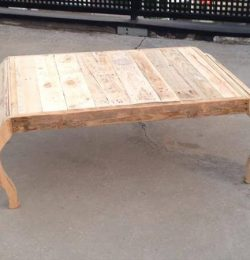 reclaimed pallet rustic coffee table