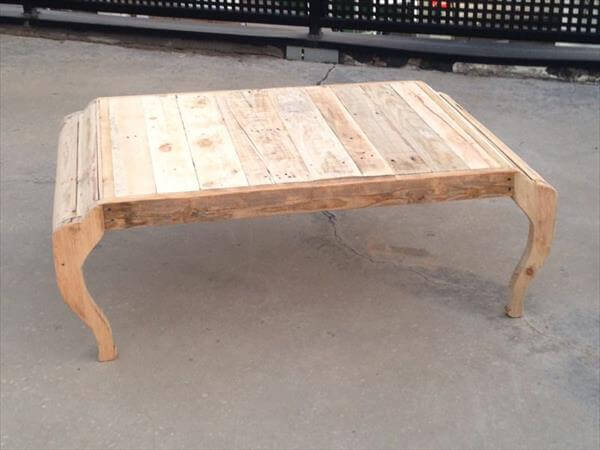 DIY Pallet Coffee Table With Metal Base Upcycled Pallet Wood Coffee ...