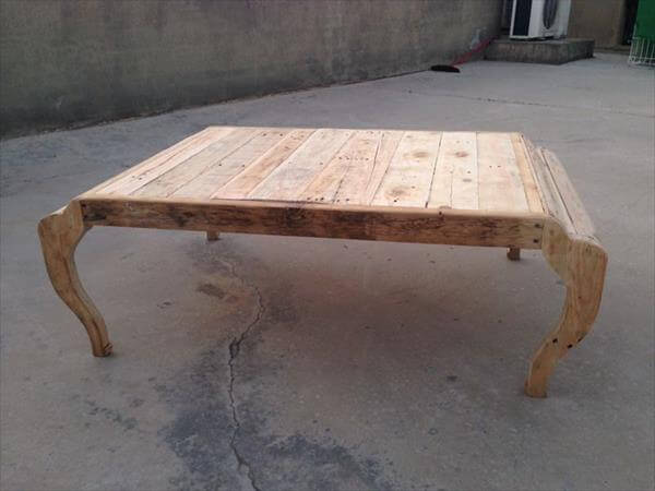 upcycled pallet rustic coffee table