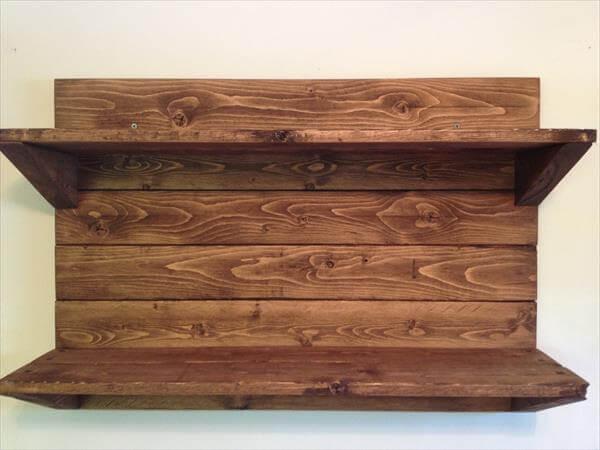 diy pallet decorative shelf