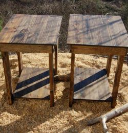 upcycled pallet side table and nightstand